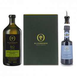 Oliviers and Co Organic Balsamic Vinegar and Extra Virgin Olive Oil Duo