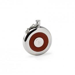 Custom Oxford Round Leather Flask