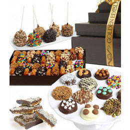 Deluxe Belgian Chocolate Covered Treats Gourmet Gift Tower
