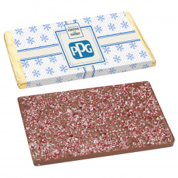 1 lb Belgian Chocolate Bar with Crushed Peppermint Topping