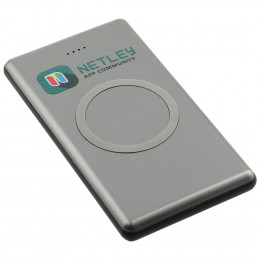 Custom Polar UL/Qi Listed Wireless Power Bank with USB to Micro USB Charging Cable
