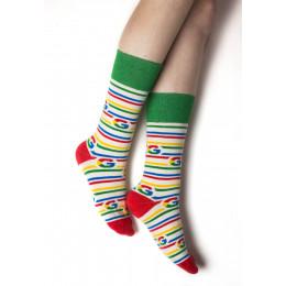 Custom Crew Length Cotton Socks w/ packaging