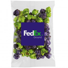 Custom Popcorn Snack Bag with Brand Color Fill