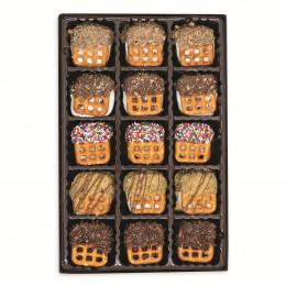 Pretzelwich Assorted Flavor Pretzel Sandwich Box - 15 pc