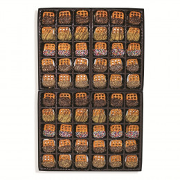 Pretzelwich Assorted Flavor Pretzel Sandwich Box - 60 pc