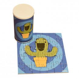 Custom 35 Piece Square Medium Puzzle in Can