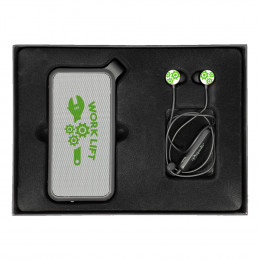 Custom Waterproof Speaker and Earbuds Gift Set