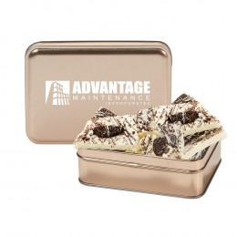 Chocolate Bark with Custom Rectangle Gift Tins 6 oz
