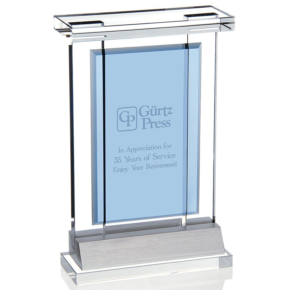 Custom Jaffa® Indigo Achievement Award