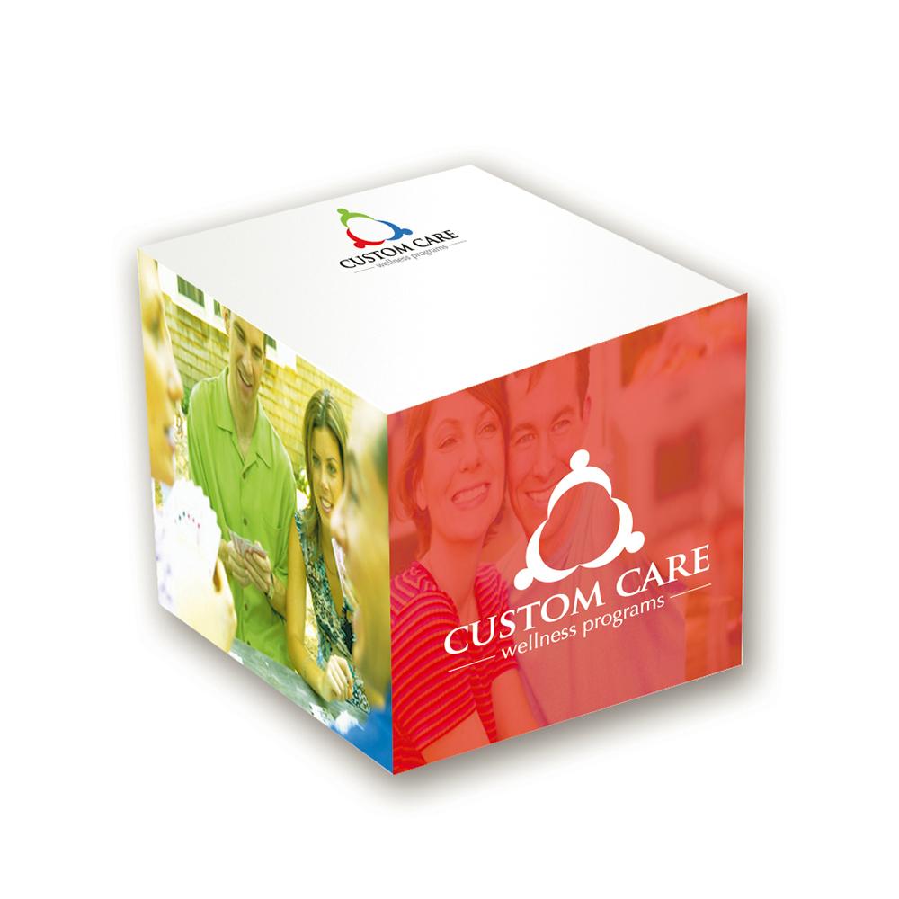 "Custom BIC® Ecolutions® 2-3/8"" x 2-3/8"" x 2-3/8"" Adhesive Cube"