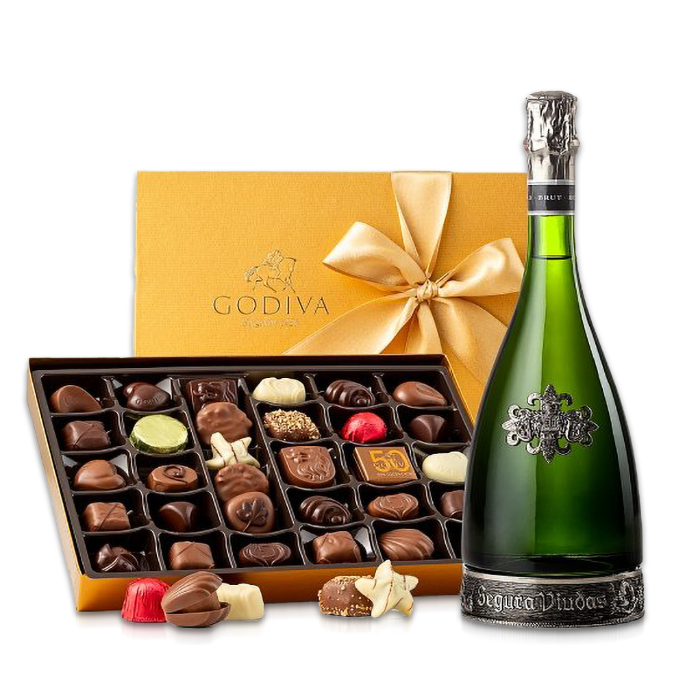 Segura Viudas Brut Cava & Godiva® Chocolates