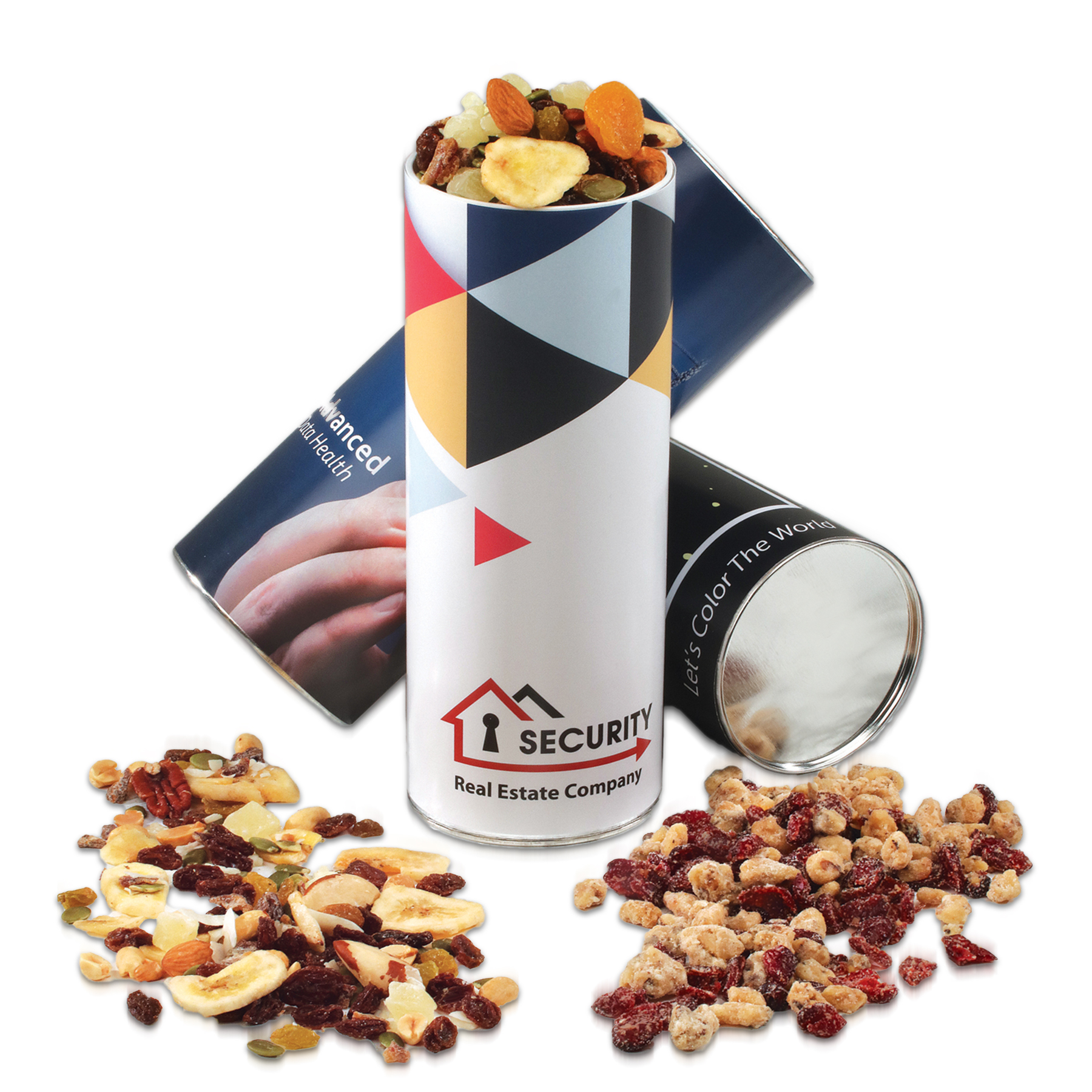 Custom Western Trail Mix & Cranberry Walnut Mix Cylinder
