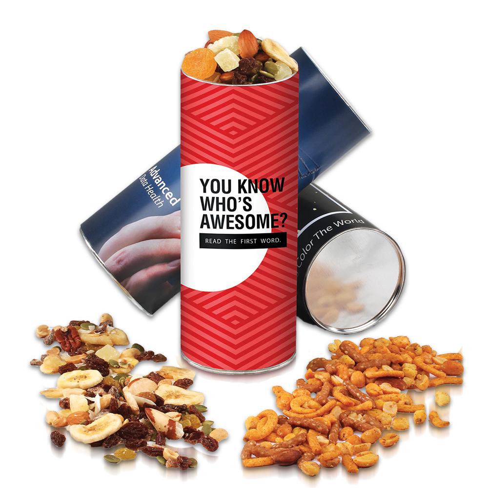 Custom Spicy Pub Mix & Western Trail Mix Cylinder