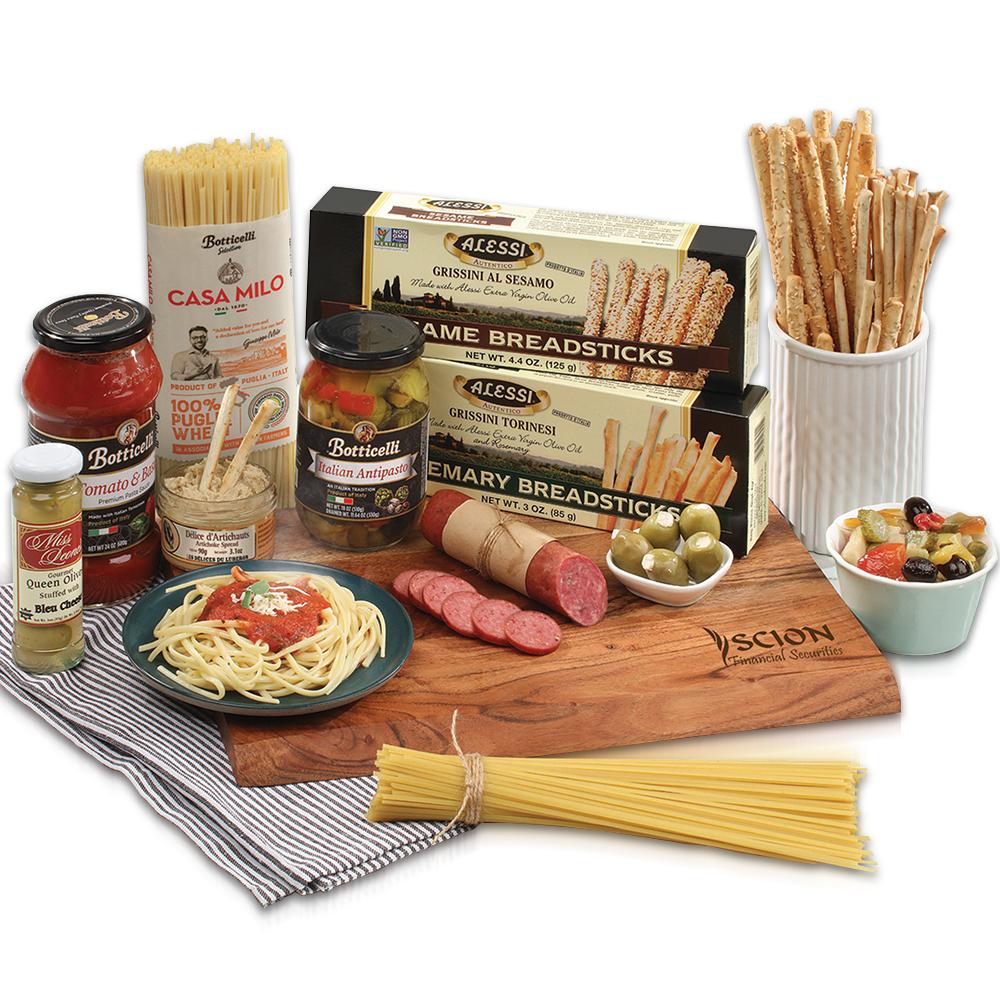 Custom Italian Themed Carving Board Gift Set
