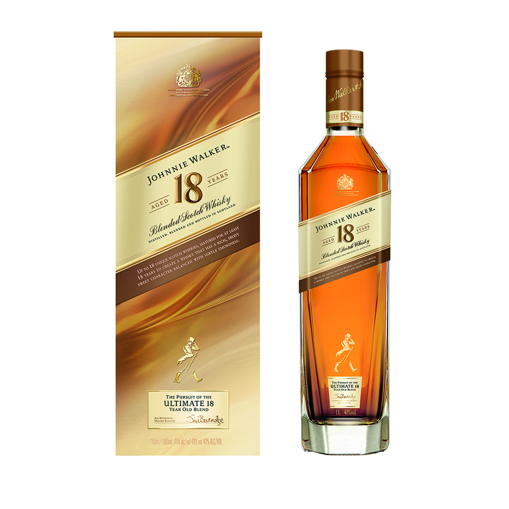 Johnnie Walker 18-Year-Old Blended Scotch Whisky 750ml