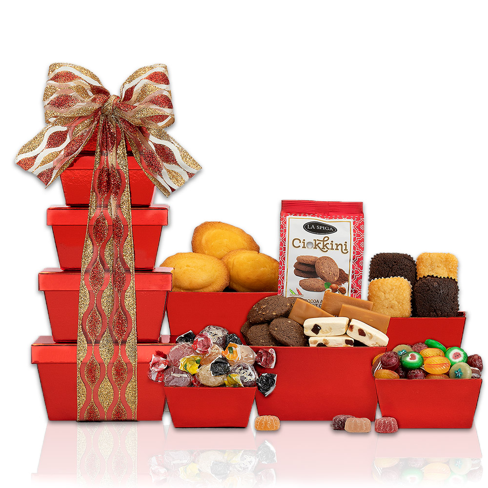 Brownie, Candy and Cake Gift Tower