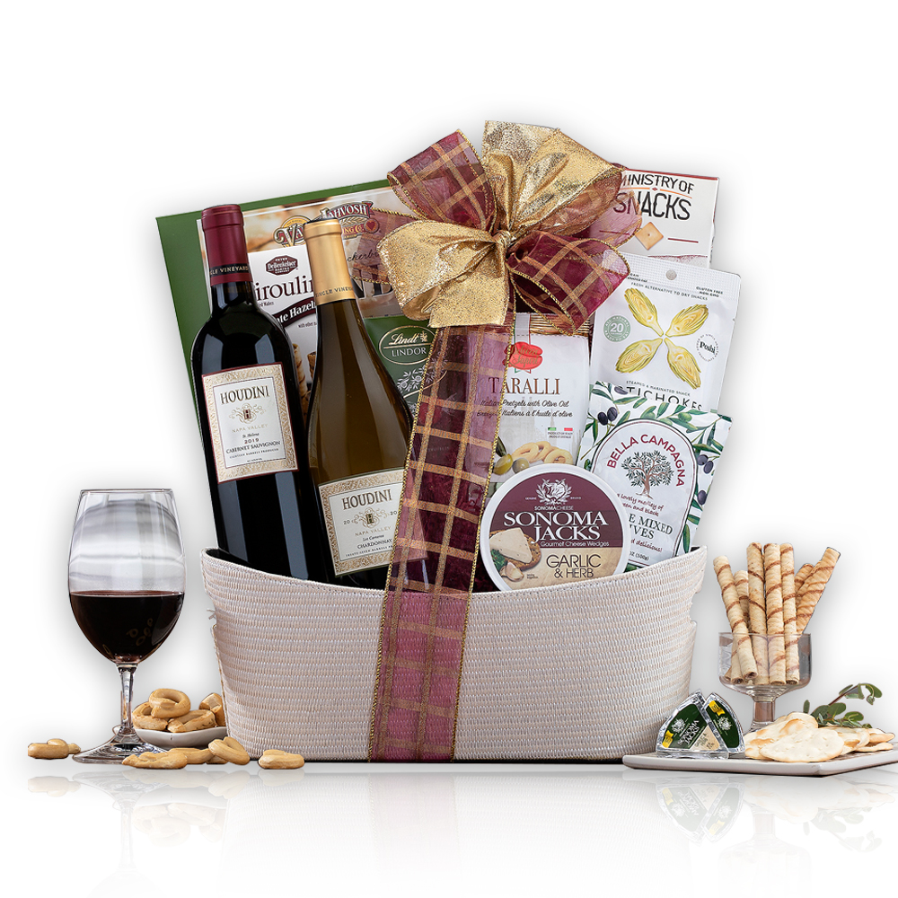 Houdini Napa Valley Duet Wine Basket