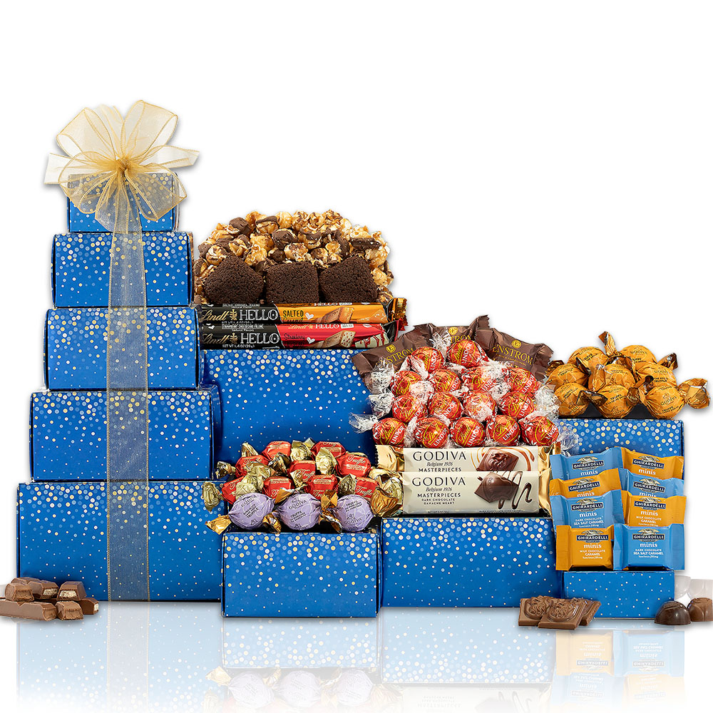 Deluxe Godiva, Ghirardelli & Lindt Chocolate Tower