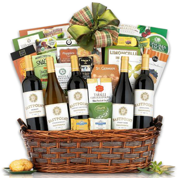 Eastpoint California Collection Wine Basket