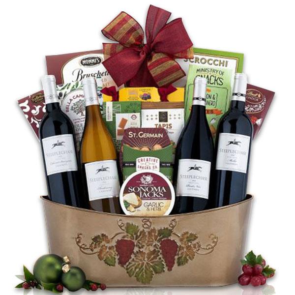 Steeplechase Quartet Wine Basket