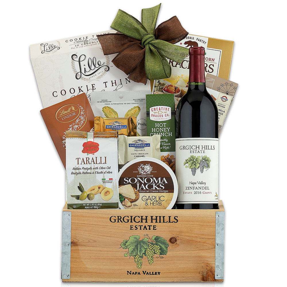 Grgich Hills Zinfandel Wine Gift Basket