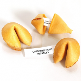 Plain Gourmet Fortune Cookies with Custom Message, Individually Wrapped