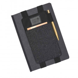 Custom Wool Blend Book Cover and Journal with Pen Holder and Phone Pocket