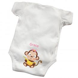 Personalized Baby Girl Booty Bodysuit