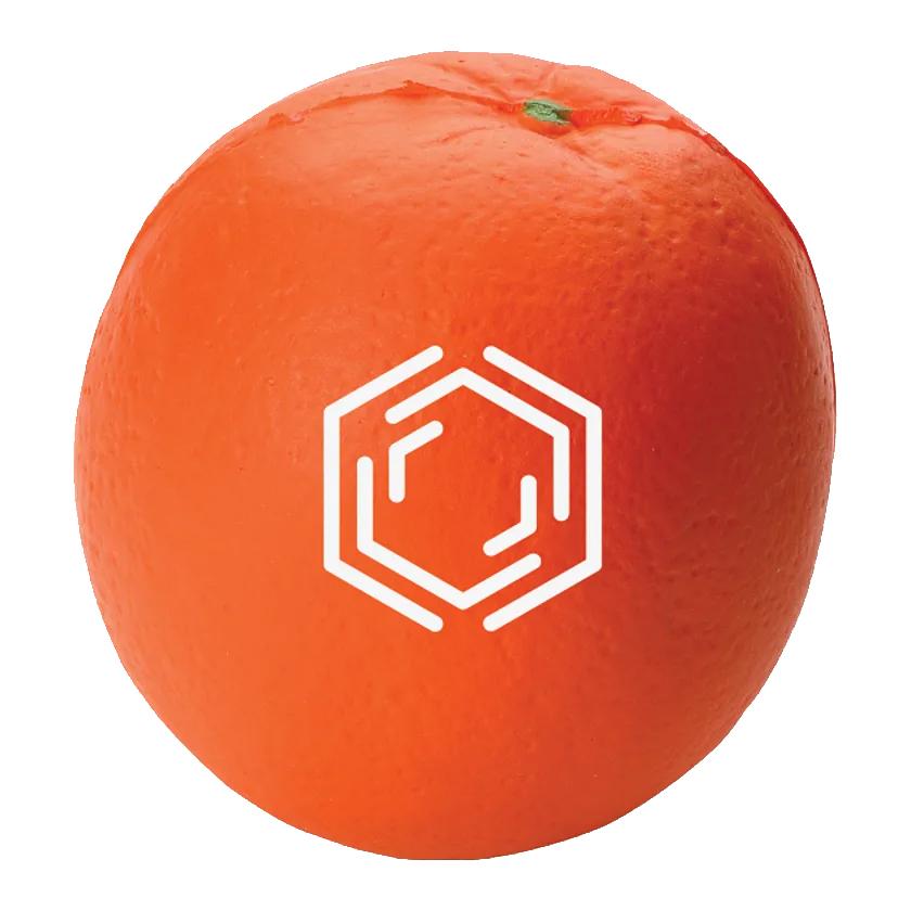 Custom Orange Stress Reliever