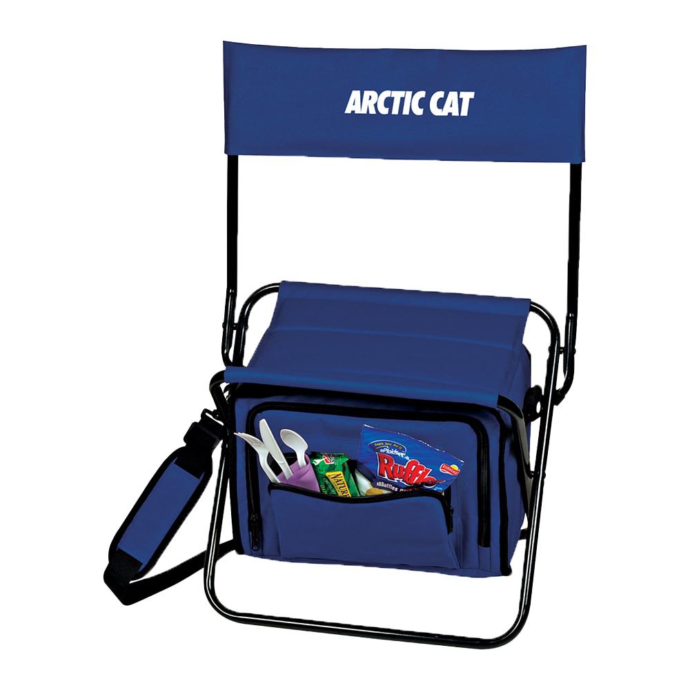 Folding Insulated 12-Can Cooler Custom Chair