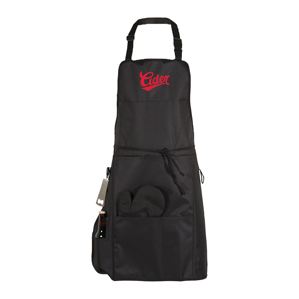 Custom BBQ Apron with Grilling Mitt and Bottle Opener