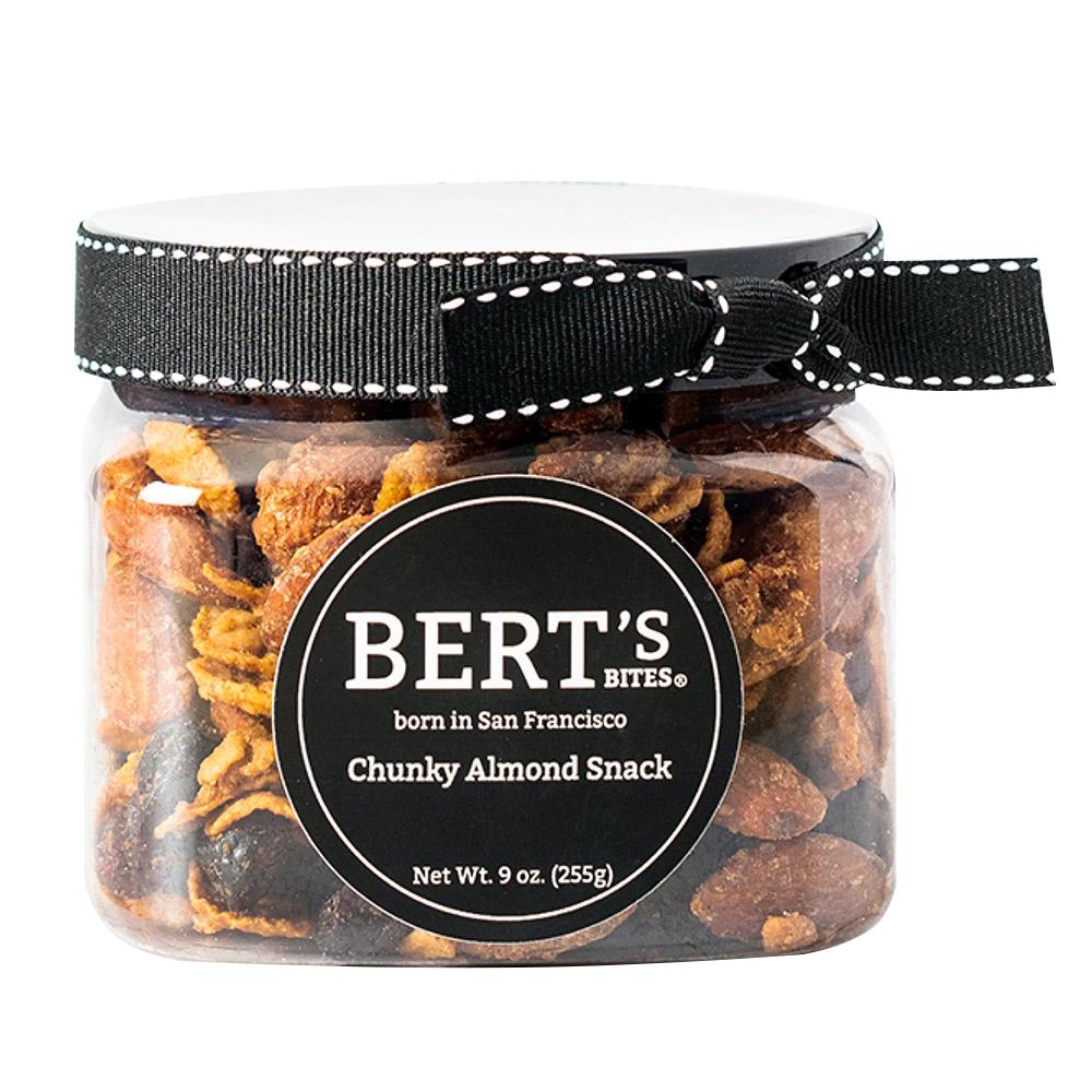 Bert's Bites Chunky Almond Snack Gift Jar - Small