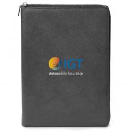 Custom Genuine Leather A4 Size RFID Portfolio
