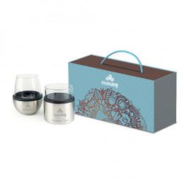 Custom Asobu® Wine and Scotch Glass and Kuzie Gift Set