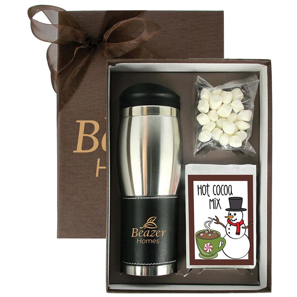 Custom Hot Cocoa Tumbler Gift Set