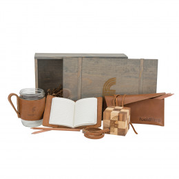 Custom Inspirational Desktop Wooden Game and Leather Accessories