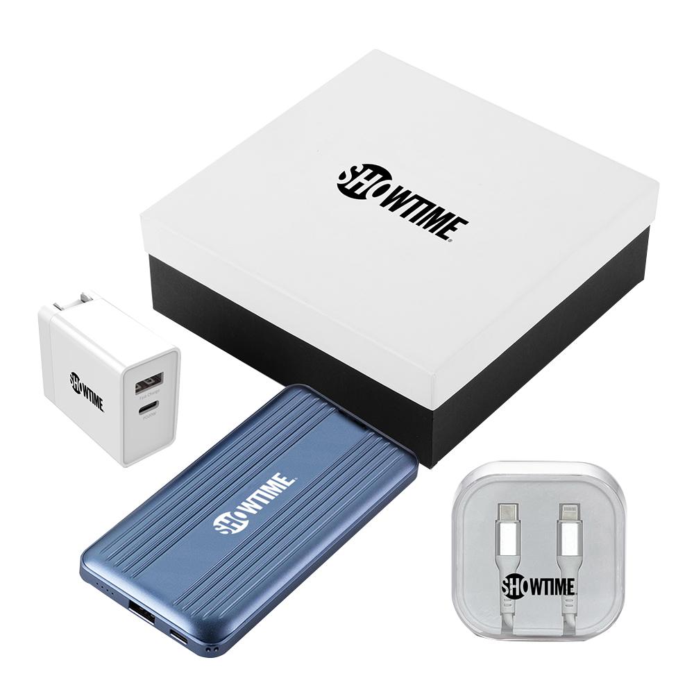 Custom Fast Charging Power Bank Gift Set