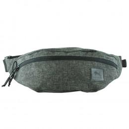 Custom Gray Ripstop Fanny Pack with Adjustable Waist Belt