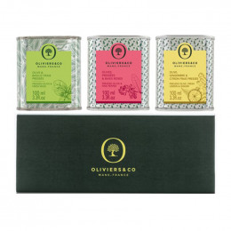Oliviers and Co Aromatic Olive Oil Trio: Basil, Pink Pepper, Lemon & Ginger
