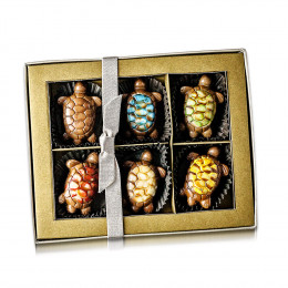 Ghyslain's Turtle Mosaic Collection Chocolate Gift Box 6pc