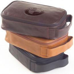 Custom Tuscan Leather Cosmetics Bag