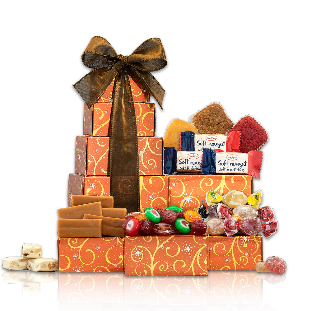 Cake and Candy Gift Tower