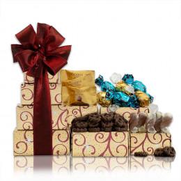 Milk and Dark Chocolate Gift Tower