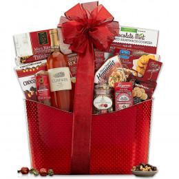 Cliffside Rose Wine Gift Basket