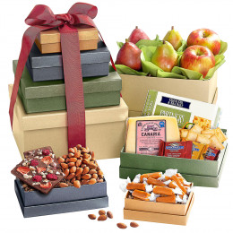 Fruit, Cheese and More Gift Tower