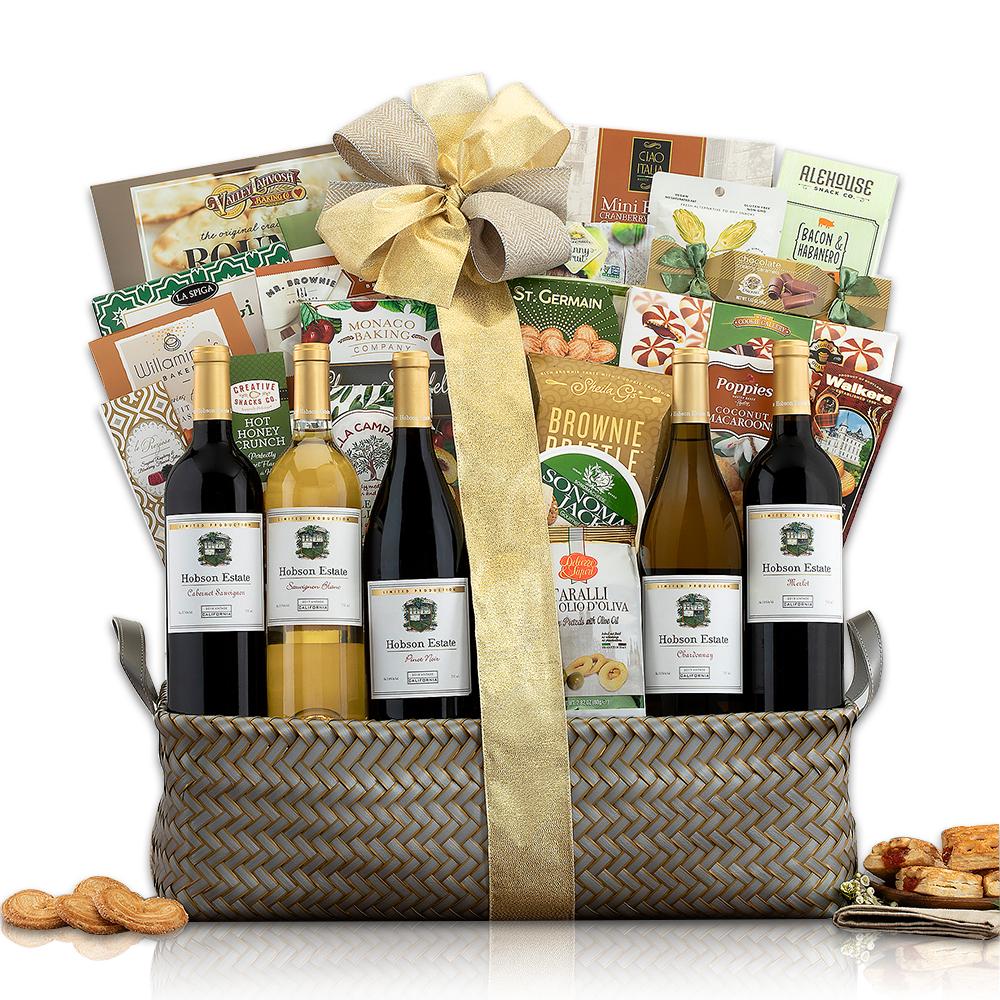 Hobson Estate California Collection Wine Basket