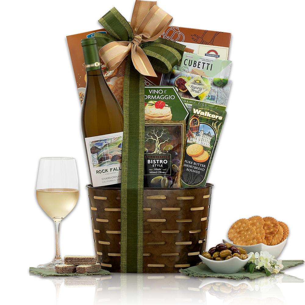 Rock Falls Vineyards Chardonnay Wine Basket