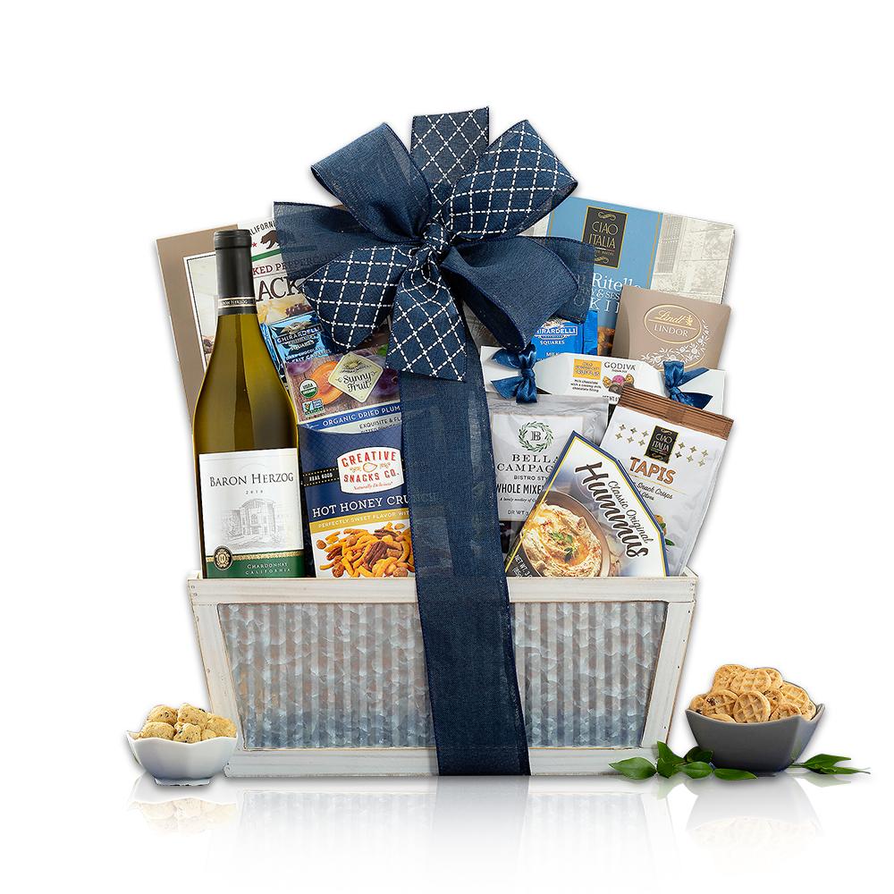 Baron Herzog Chardonnay Kosher Wine Basket