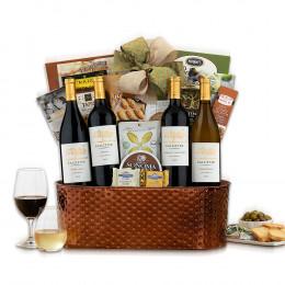 Premium California Quartet Wine Basket