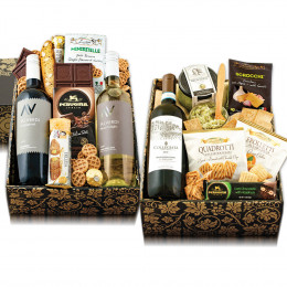 Triple Taste Of Italy Wine & Gourmet Double Decker Gift Box